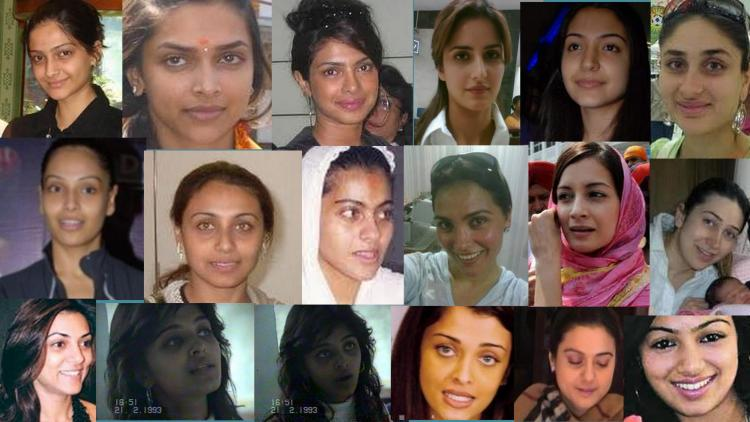 Top Bollywood celebrities without makeup