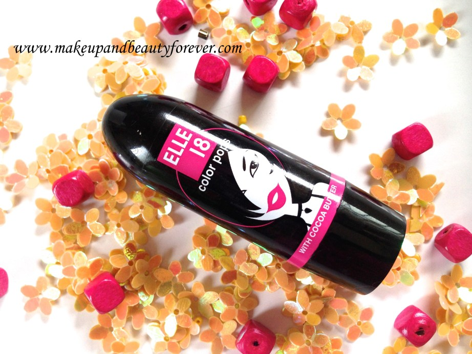 Elle 18 Color Pops Lipstick Wow Pink 51 Review Price Swatches Astha MBF