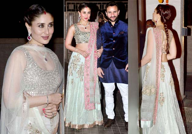 Kareena Kapoor Outfit Lehenga by Manish Malhotra at Soha Ali Khan Kunal Kemmu Wedding Reception