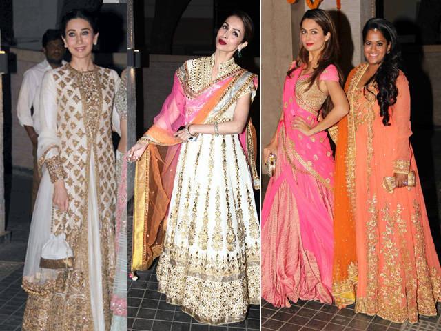 Karishma Kapoor Malika Arora Khan Arpita Khan Sharma at SOha Wedding Reception