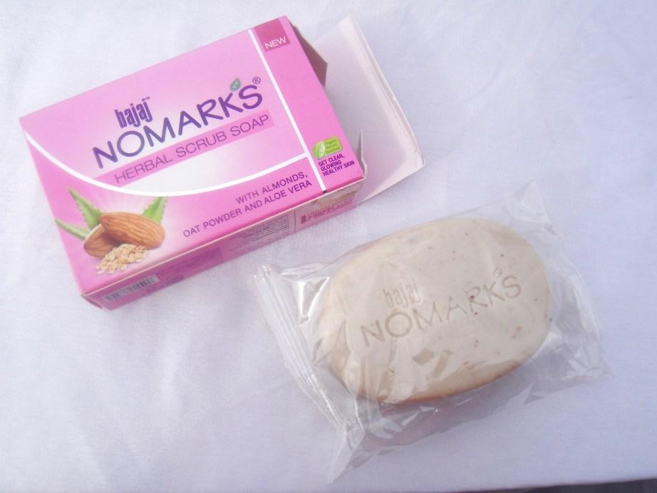 Bajaj NOMARKS Herbal Scrub Soap Review Indian Beauty Blog