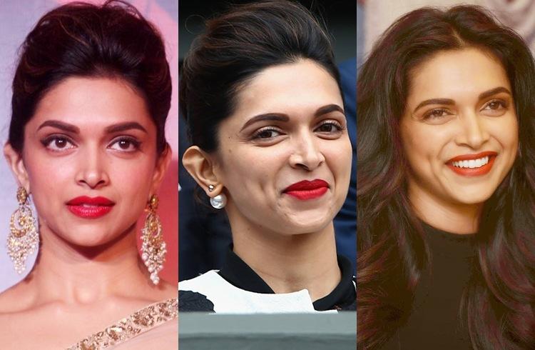 Deepika Padukona Signature makeup look red lipstick black winged eyeline Makeup and Beauty Forever MBF India