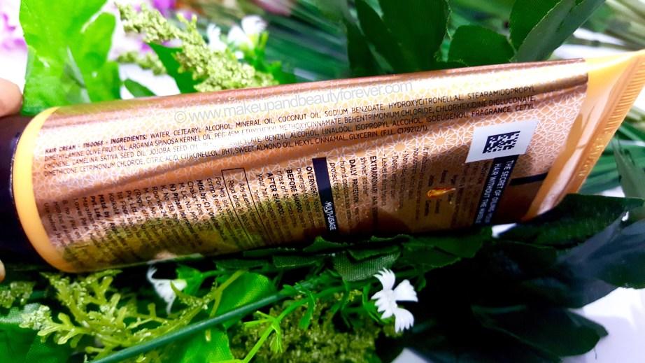 LOreal Paris Hair Expertise 6 Oil Nourish Oil in Cream Oil Replacement Cream Review Ingredients