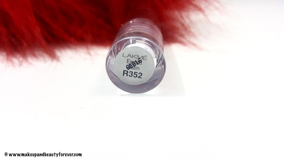 Lakme R352 Enrich Satin Lipstick shade Review Swatches FOTD