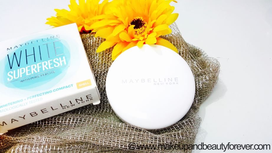 Maybelline White Superfresh 12HR Whitening Perfecting Compact powder Review Shades Coral Pearl Shell Swatches India