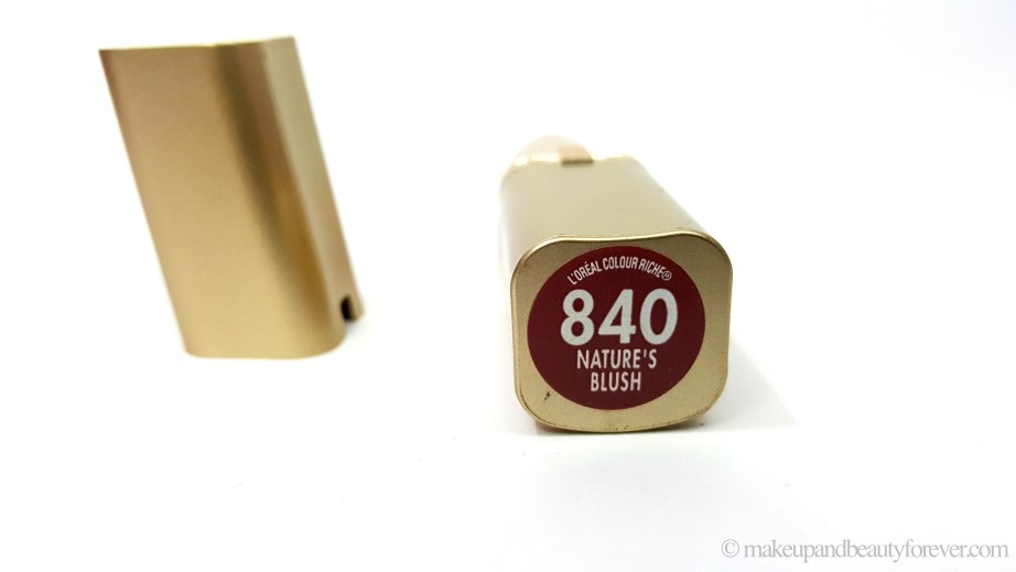 L'Oreal Color Riche Lipstick 840 Natures Blush Review Swatches