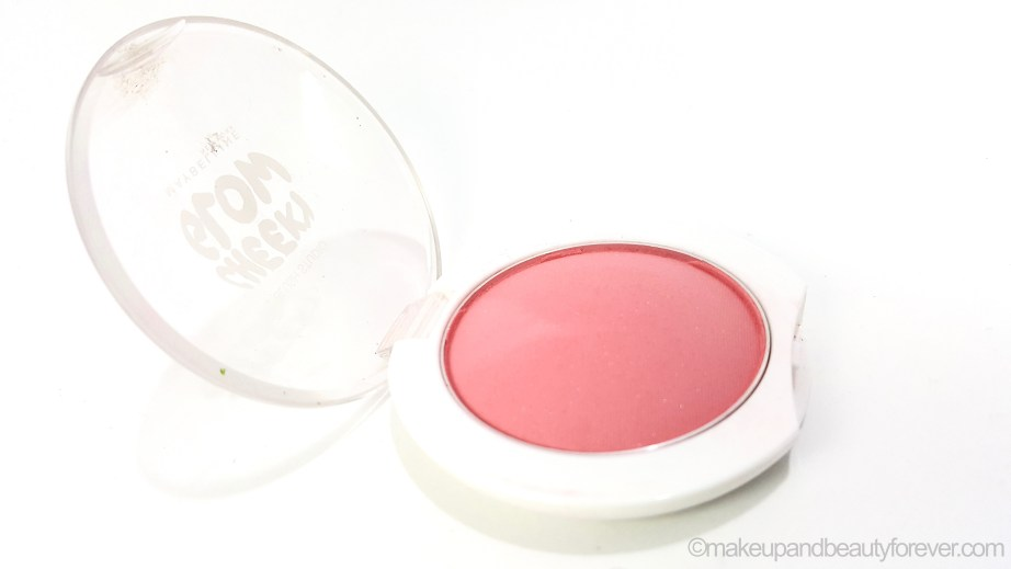 Maybelline Cheeky Glow Blush Peachy Sweetie Review swatches