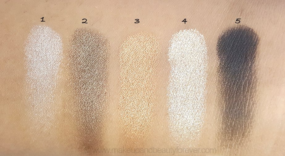 Maybelline Color Sensational Diamonds EyeShadow Palette Topaz Gold Review Swatches