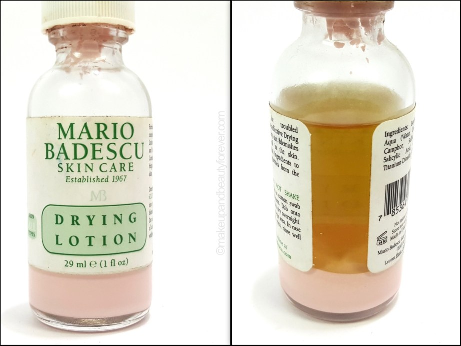 Mario Badescu Drying Lotion review before after