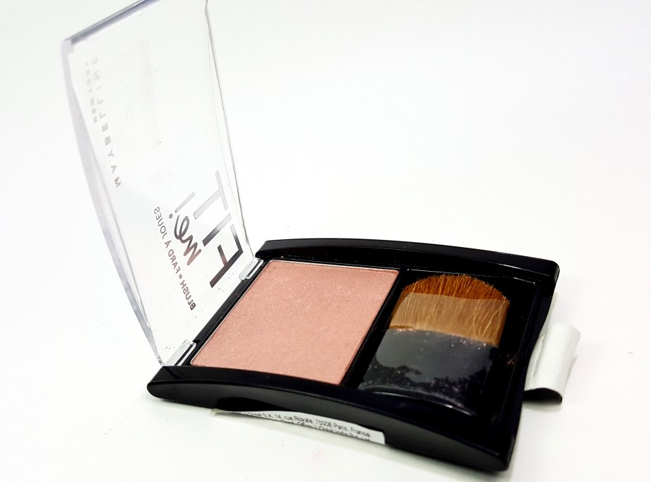 Maybelline Fit Me Blush Medium Nude 208 Review Swatches pan