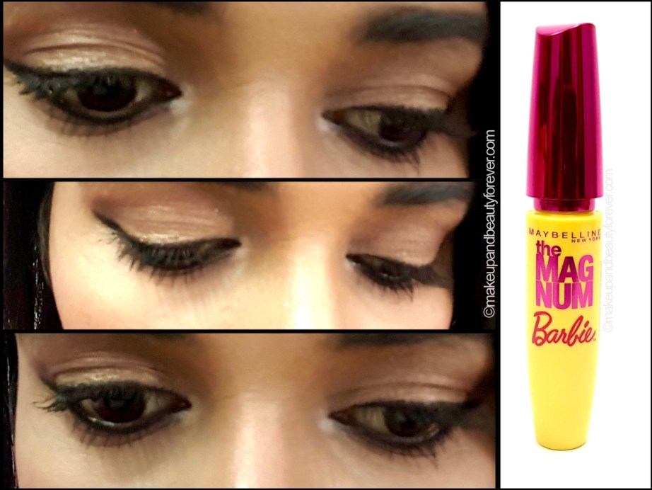 Maybelline Magnum Barbie Mascara Review on eyes lashes