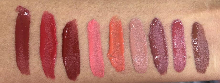 All Chambor Liquid Lipsticks swatches Retro Rouge 434 Oh My Rouge 435 Savage 436 Rouge Grenadine 461 Orangerie 462 Brune Jungle 481 Coffee Date 482 Rose Boudoir 483 Truffle 484