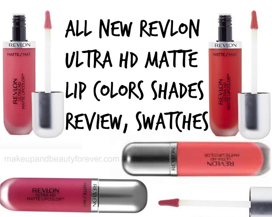 All New Revlon Ultra HD Matte Lip Colors Shades Review, Swatches Love Temptation Devotion Flirtation Obsession Passion Addiction Seduction