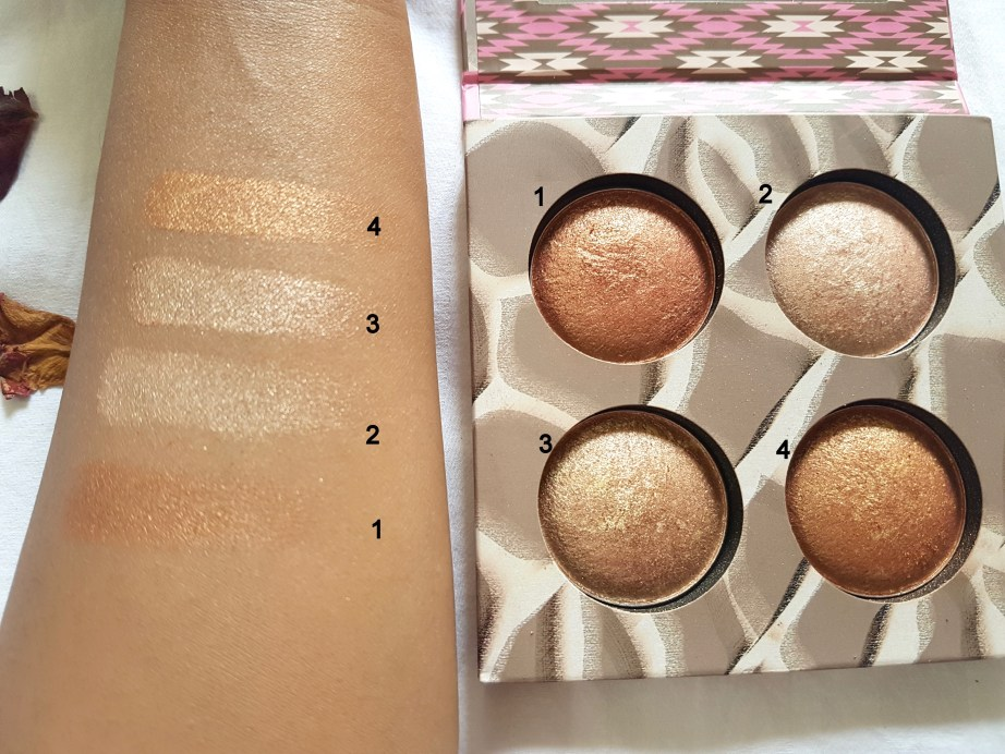 Bh Cosmetics Wild and Radiant Palette Review Swatches 1