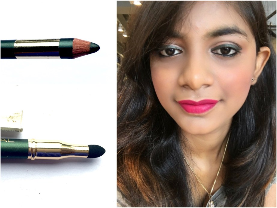 L'Oreal Color Riche Le Smoky Pencil Eyeliner Antique Green 209 Review Swatches mbf beauty blog