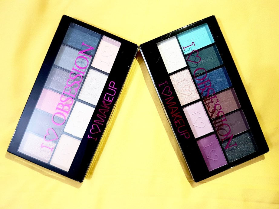 Makeup Revolution I ♡ MAKEUP I ♡ OBSESSION Eye Shadow Palettes - Paris & Wild is the Wind Review Swatches