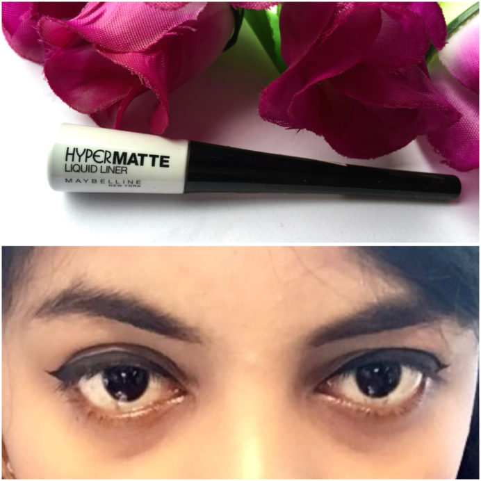 Maybelline Hyper Matte Liquid Liner Review Swatches on eyes