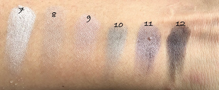 Maybelline The Blushed Nudes Palette Review Swatches Makeup 7 to 12 shades