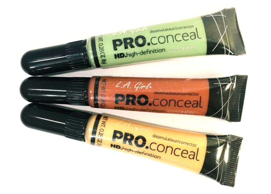 L A Girl Pro Conceal HD Orange Green Yellow Correctors Review Swatches