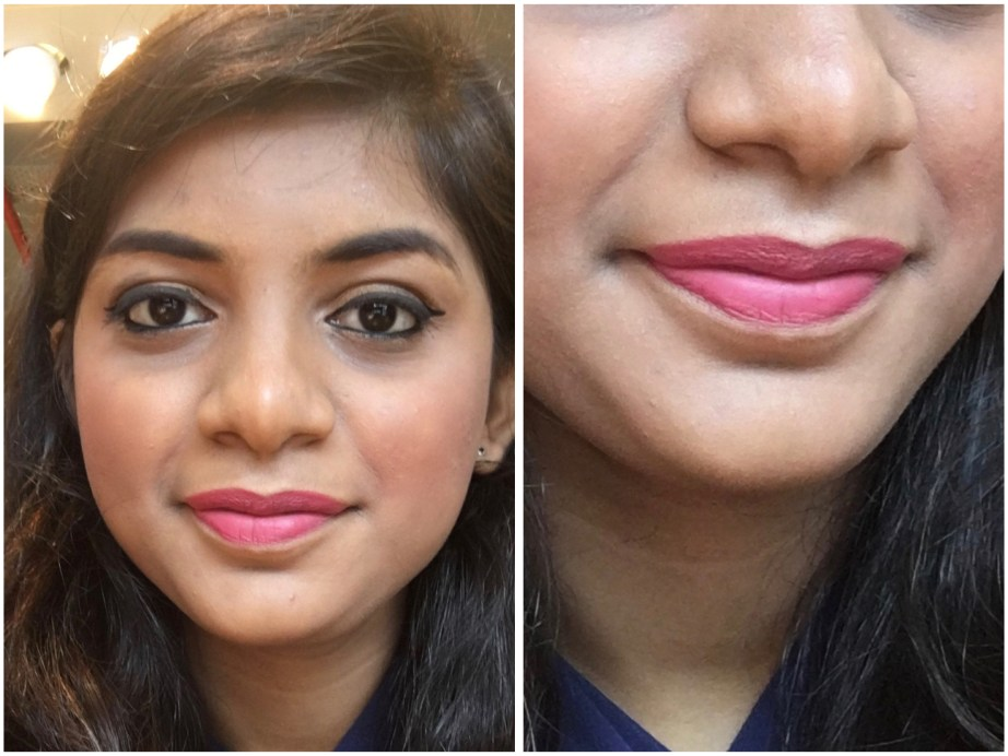 SUGAR Matte As Hell Crayon Lipstick Rose Dawson 05 Review Swatches on lips