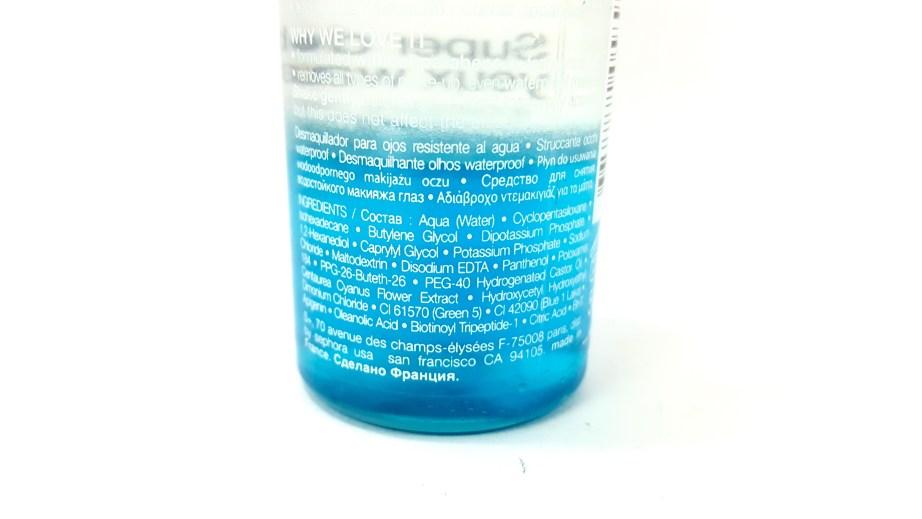 Sephora Waterproof Eye Makeup Remover Review ingredients