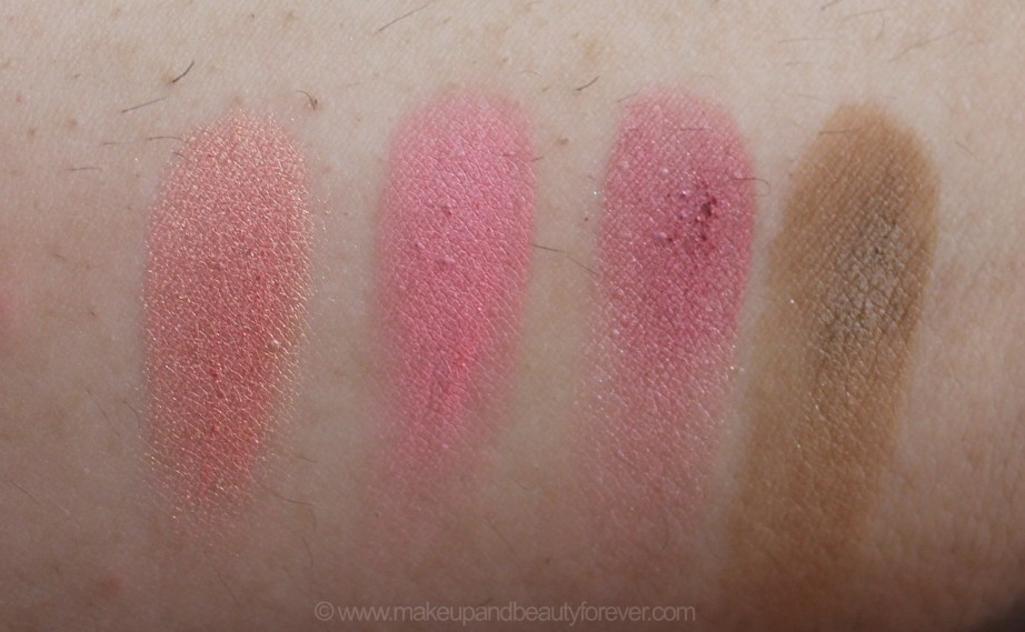 In the Balm of Your Hand Palette Review Swatches Blushes Hot Mama Instain Cabana Boy Bronzer Bahama Mama MBF