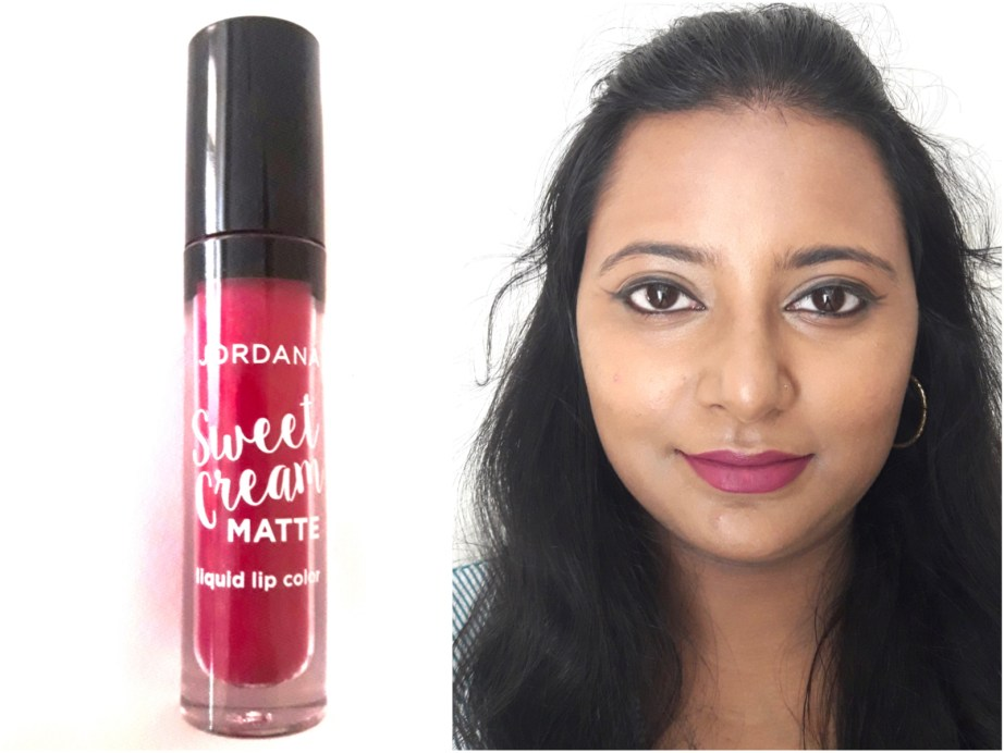 Jordana Sweet Cream Matte Liquid Lipstick Sugared Plum Review Swatches MBF blog