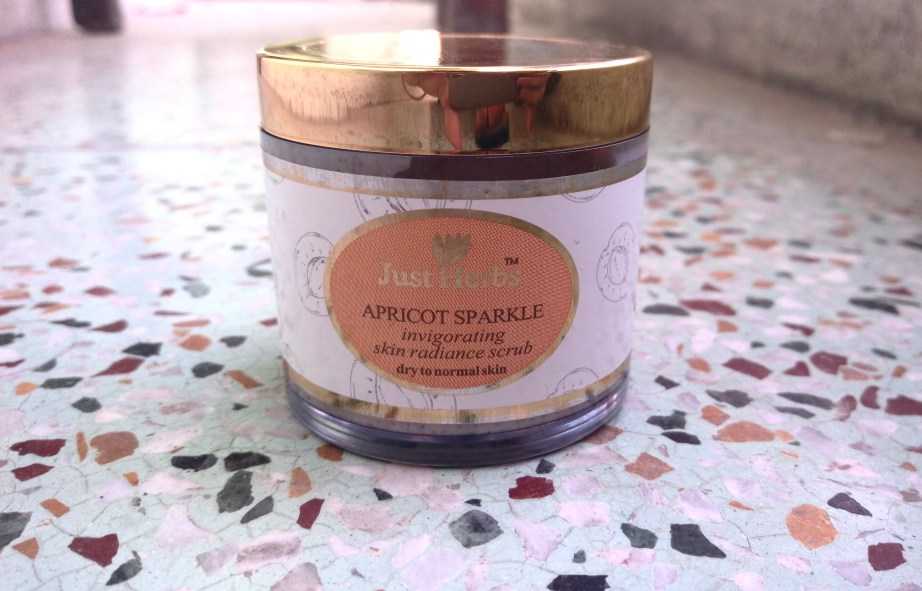 Just Herbs Apricot Sparkle Invigorating Skin Radiance Scrub Review mbf
