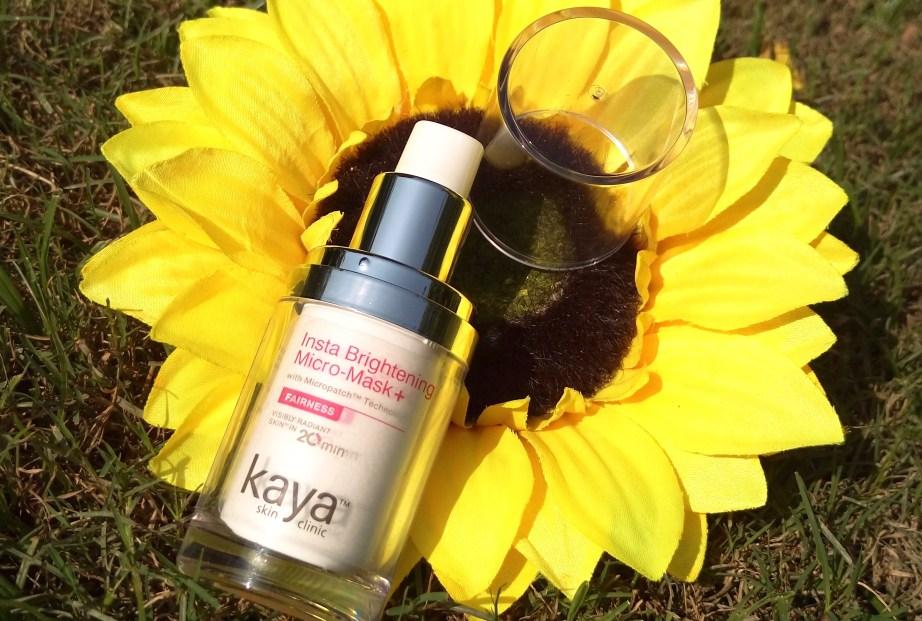 Kaya Insta Brightening Micro Mask Review Swatches makeup beauty blog