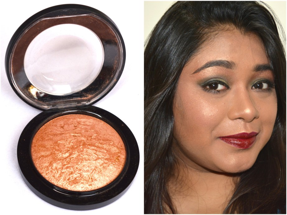 MAC Cheeky Bronze Mineralize Skinfinish Highlighter Review Swatches Demo MBF Makeup Look