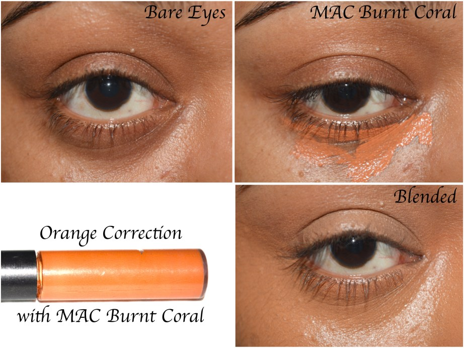 MAC Studio Conceal and Correct Duo Review Swatches Demo Burnt coral orange color correct tutorial