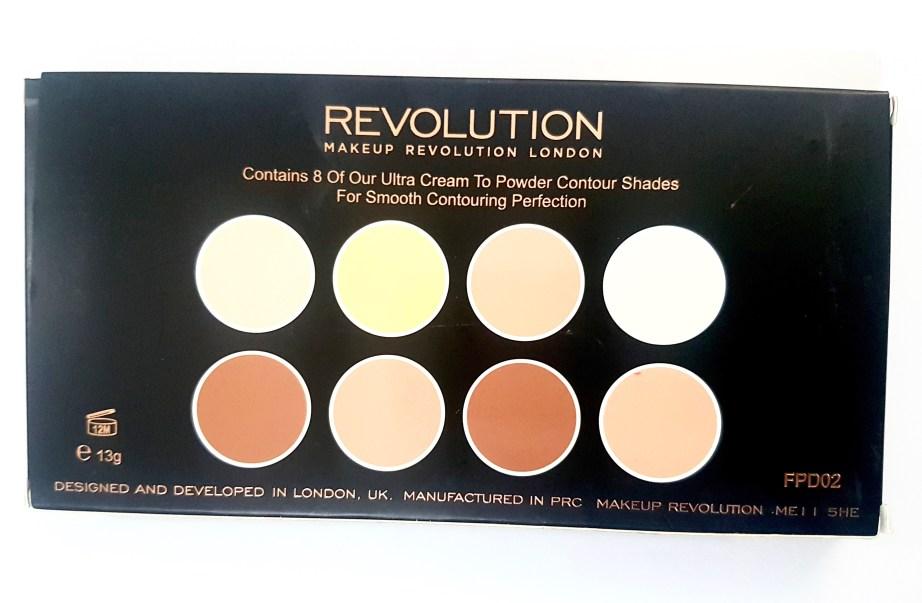 Makeup Revolution Ultra Cream Contour Palette Review Swatches box back