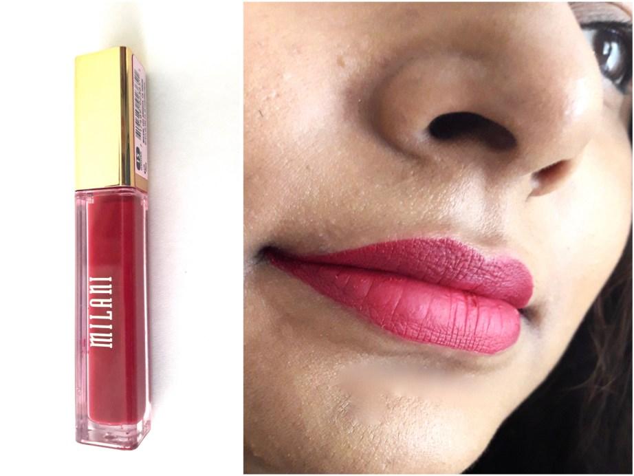 Milani Amore Matte Lip Creme Gorgeous Review Swatches Lipstick