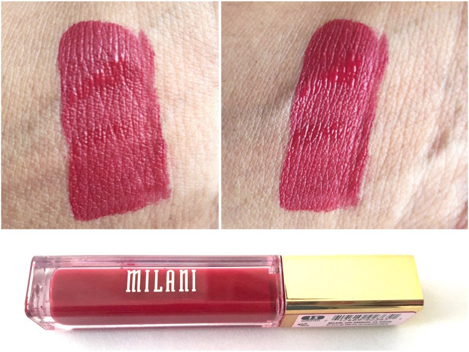 Milani Amore Matte Lip Creme Gorgeous Review Swatches on hand