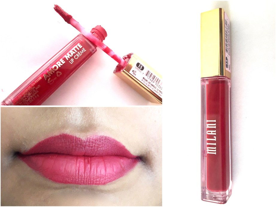 Milani Amore Matte Lip Creme Gorgeous Review Swatches