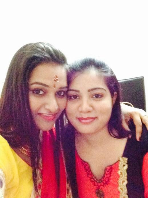 Astha with best friend Rani