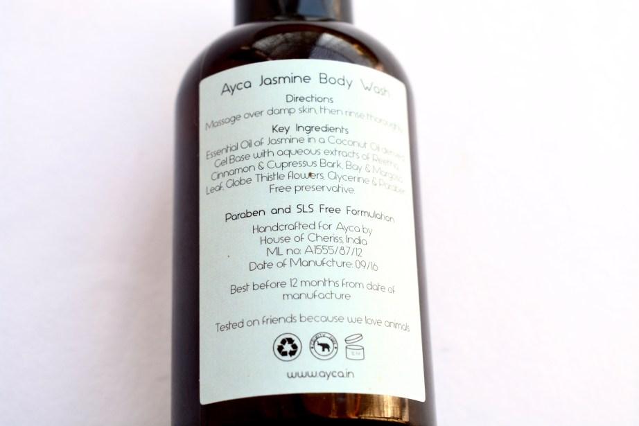 Ayca Jasmine Body Wash Review Information
