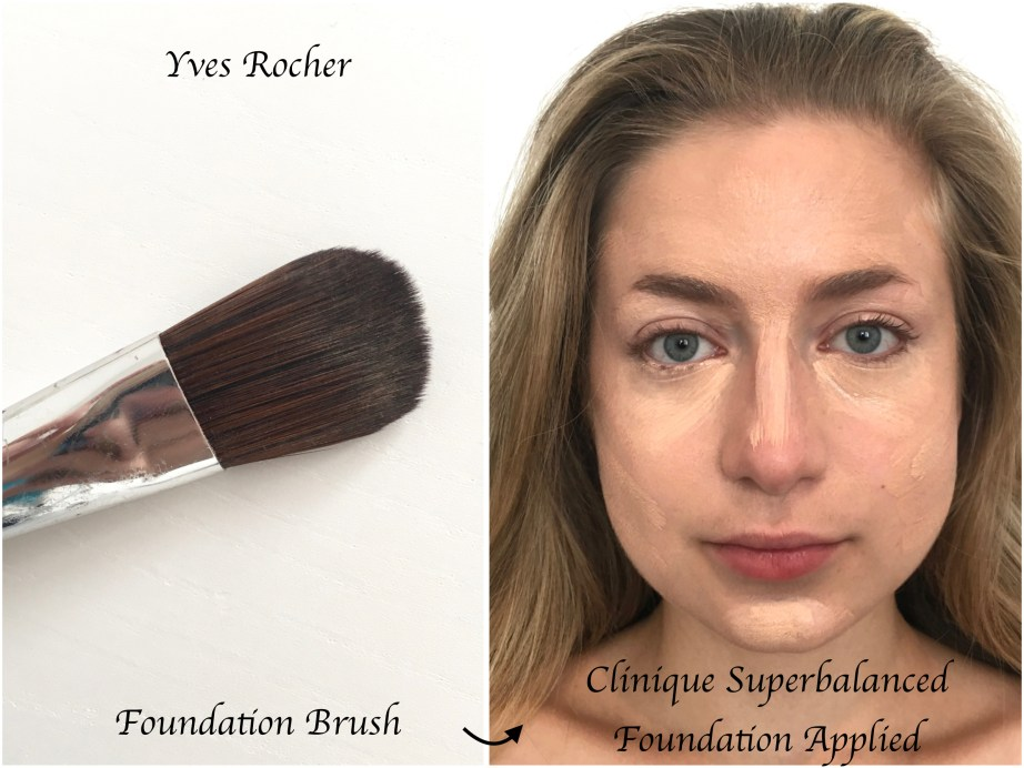 Clinique Superbalanced Makeup Foundation Review Swatches Demo Yves Rocher Foundation Brush