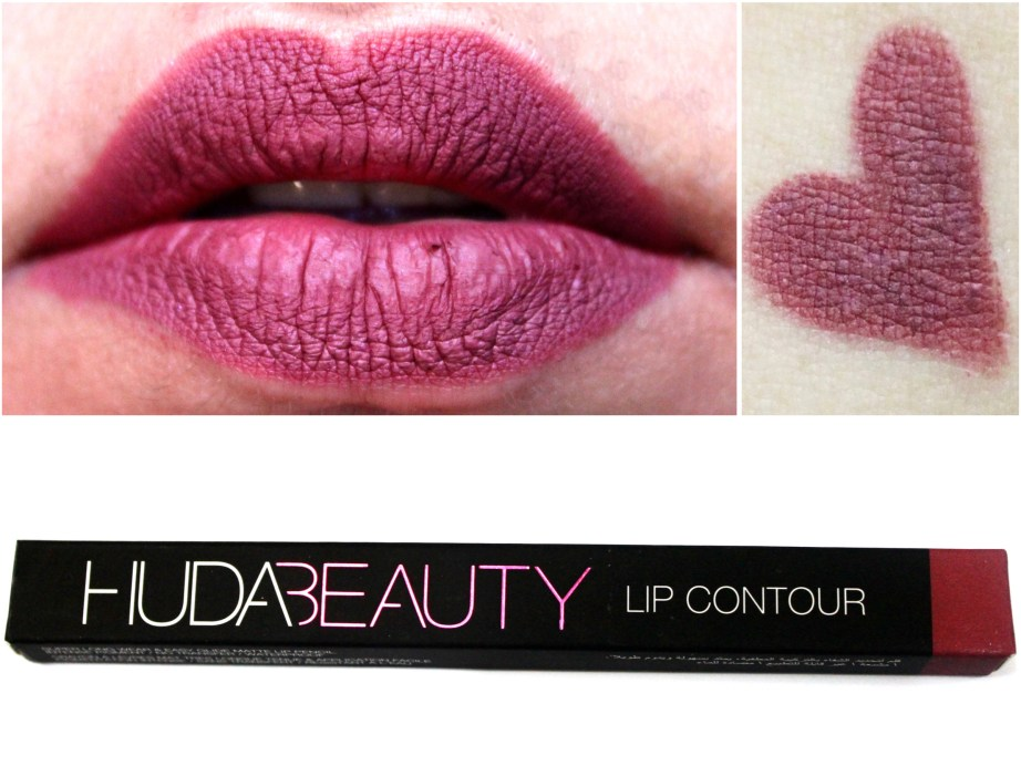 Huda Beauty Lip Contour Matte Pencil Trophy Wife Review Swatches MBF