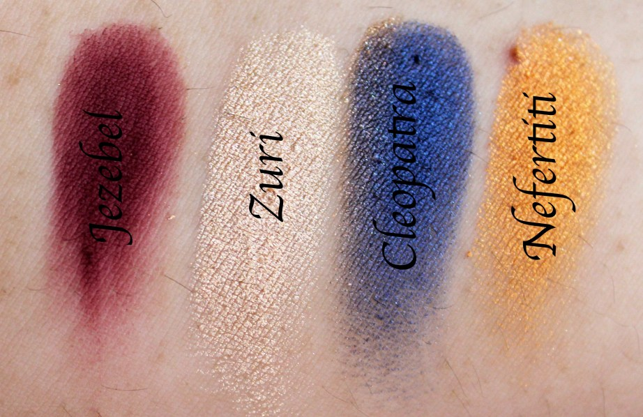 Juvia's Place Nubian 2 Yellow Eye Shadow Palette Review Swatches Jezebel Suri Cleopatra Nefertiti