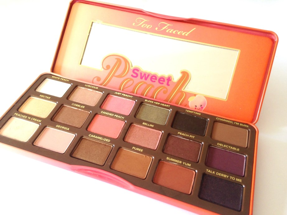 Too Faced Sweet Peach Eyeshadow Palette Review Swatches MBF