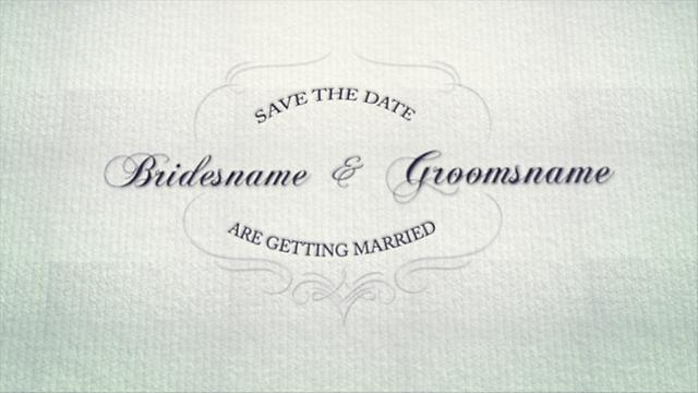Create Save The Date Video Online Wedding Template
