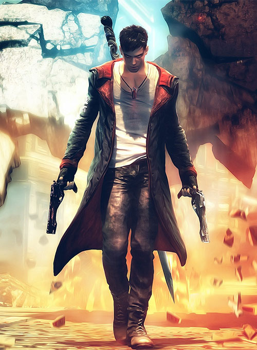 Anime Chibi Wallpaper Devil May Cry 5 Dante Leather Coat Makeyourownjeans