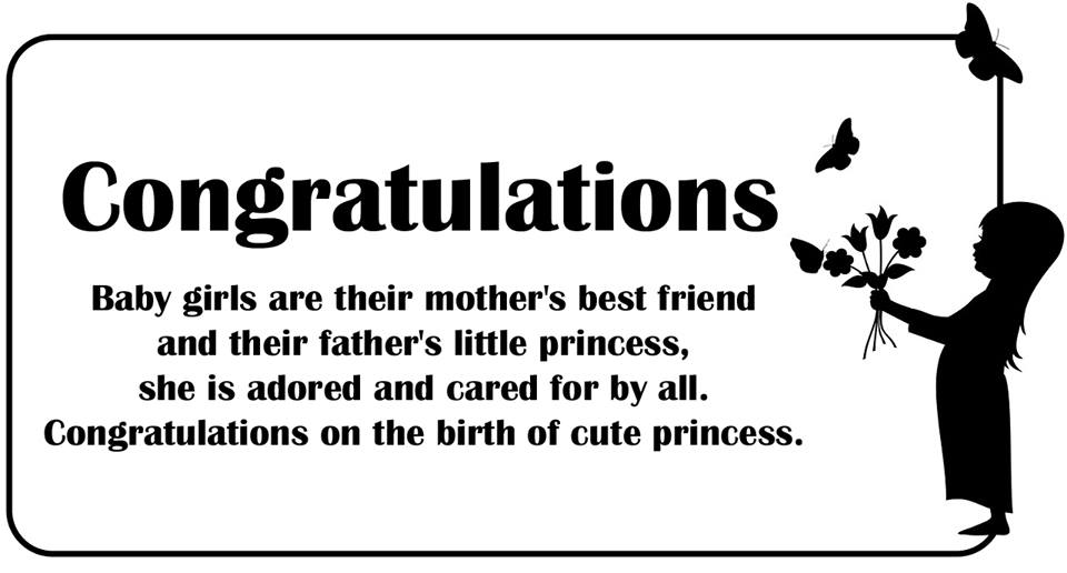 Congratulations Messages for New Baby Girl