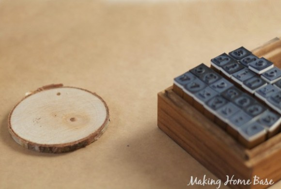 stamped wood ornaments