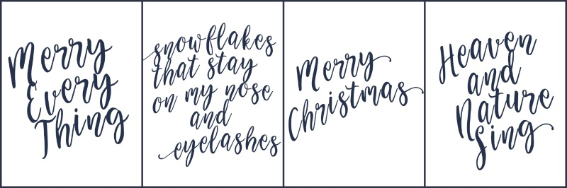 Free Christmas Cards Printable - Chic Christmas cards - free to print