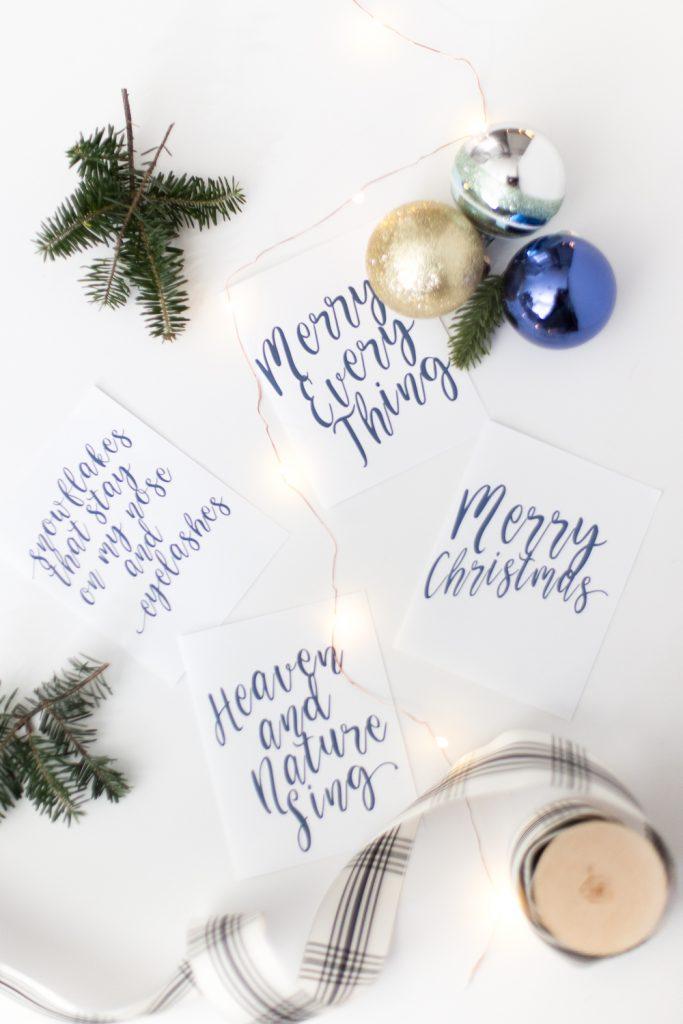 Free Christmas Cards Printable - Chic Christmas cards - free to print - christmas card printable