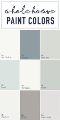 Paint Colors for a Whole Home Color Palette - Calming ...