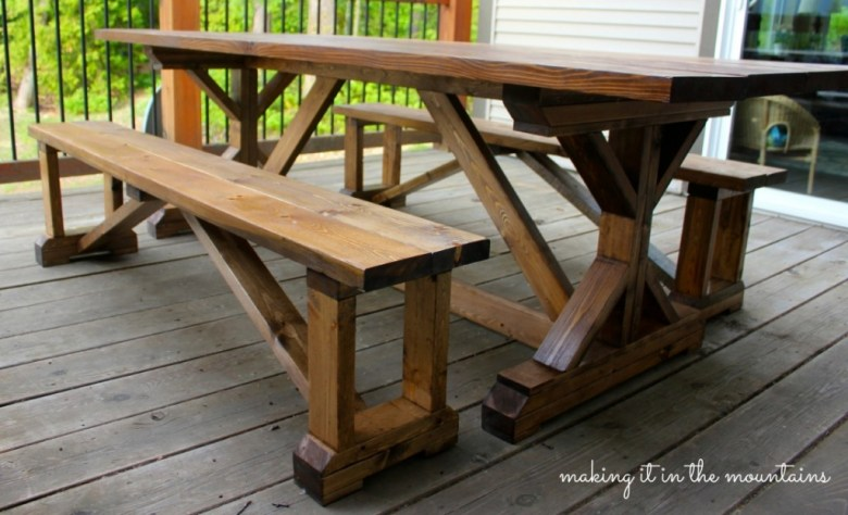 DIY Pottery Barn Inspired Table @ making it in the mounta