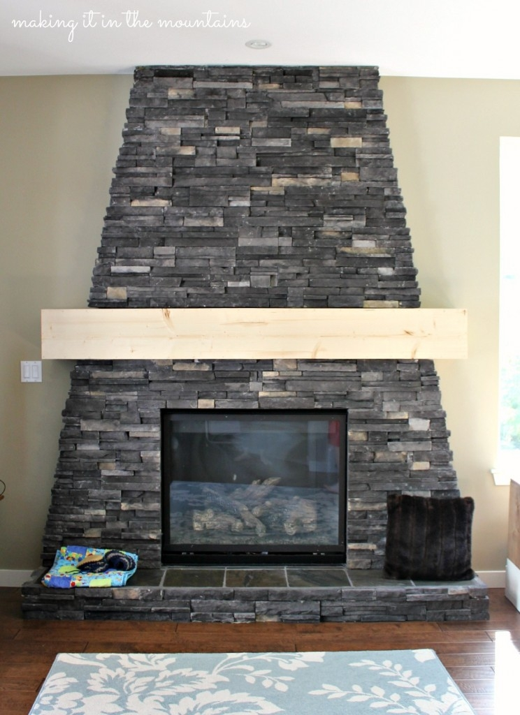 DIY Fireplace Mantle :: making it in the mountains